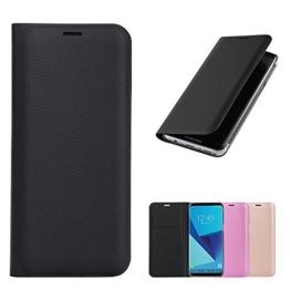 Flip Samsung Galaxy S8 Hülle Etui Wallet Brieftasche, Schwarz pu Leder, Ganzkörper Schutz nach Samsung S8 handy Telefon, Premium Qualität Mit Karte Slot -