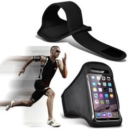Fone-Case (Black) Einstellbare Sport-Armband Fall-Abdeckung für Laufen Jogging Radfahren Gym für Samsung Galaxy S8 Plus -