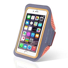 Für IPHONE 66S Armband Case Sport Arm Tasche für Samsung S3S4Xiaomi 4Training Laufen Schweiß wasserfest Handy Arm, Tasche Weiche Handschlaufe auch passend für andere Handy, orange -