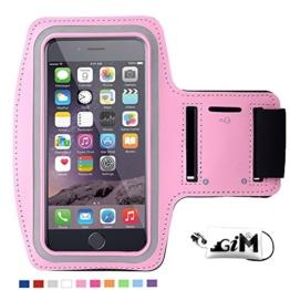 G-i-Mall iphone SE Armband hülle Universal Sportarmband Brassard Joggen Fitness Sport armband Schutz Tasche Handyhülle für 4.1 Zoll iphone SE 5 5S 5C 4S samsung S3 mini ect - Pink -