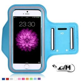 G-i-Mall iphone SE Armband hülle Universal Sportarmband Brassard Joggen Fitness Sport armband Schutz Tasche Handyhülle für 4.1 Zoll iphone SE 5 5S 5C 4S samsung S3 mini ect - Blau -