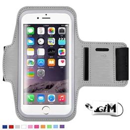 G-i-Mall iphone SE Armband hülle Universal Sportarmband Brassard Joggen Fitness Sport armband Schutz Tasche Handyhülle für 4.1 Zoll iphone SE 5 5S 5C 4S samsung S3 mini ect - Grau -