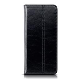 Galaxy S8 Hülle, Terrapin ECHT LEDER Slim Fit Brieftasche im Bookstyle mit Standfunktion Kartenfächer für Samsung Galaxy S8 Cover - Schwarz -
