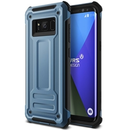 Galaxy S8 Hülle, VRS Design® Schutzhülle [Blau] Heavy Duty Schlagfesten Stoßstangen TPU Bumper Case Kratzfeste Robust Handyhülle [Terra Guard] für Samsung Galaxy S8 2017 -