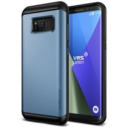 Galaxy S8 Hülle, VRS Design® Schutzhülle [Blau] Schlagfesten Stoßstangen TPU Bumper Case Kratzfeste Schlanke Handyhülle [Hard Drop] für Samsung Galaxy S8 2017 -