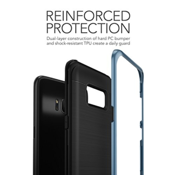 Galaxy S8 Hülle, VRS Design® Schutzhülle [Blau] Schlagfesten Stoßstangen TPU Bumper Case Kratzfeste Schlanke Handyhülle [High Pro Shield] für Samsung Galaxy S8 2017 -
