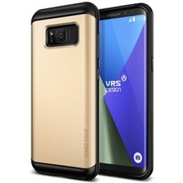 Galaxy S8 Hülle, VRS Design® Schutzhülle [Gold] Schlagfesten Stoßstangen TPU Bumper Case Kratzfeste Schlanke Handyhülle [Hard Drop] für Samsung Galaxy S8 2017 -