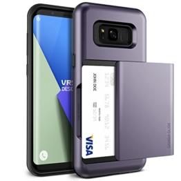 Galaxy S8 Hülle, VRS Design® Schutzhülle [Orchidee Grau] Schlagfesten Case Kratzfeste Stoßsichere Handyhülle Halbautomatik Schiebetür mit Kartenfach [Damda Glide] für Samsung Galaxy S8 2017 -