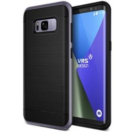 Galaxy S8 Hülle, VRS Design® Schutzhülle [Orchidee Grau] Schlagfesten Stoßstangen TPU Bumper Case Kratzfeste Schlanke Handyhülle [High Pro Shield] für Samsung Galaxy S8 2017 -