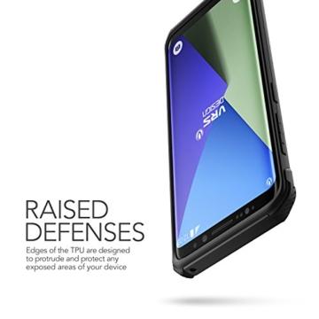 Galaxy S8 Hülle, VRS Design® Schutzhülle [Schwarz] Heavy Duty Schlagfesten Stoßstangen TPU Bumper Case Kratzfeste Robust Handyhülle [Terra Guard] für Samsung Galaxy S8 2017 -