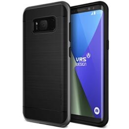 Galaxy S8 Hülle, VRS Design® Schutzhülle [Schwarz] Schlagfesten Stoßstangen TPU Bumper Case Kratzfeste Schlanke Handyhülle [High Pro Shield] für Samsung Galaxy S8 2017 -