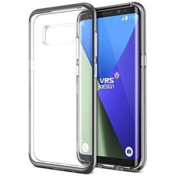 Galaxy S8 Hülle, VRS Design® Silikon Schutzhülle [Schwarz] Transparent Schlagfesten Stoßstangen Durchsichtige Case TPU Handyhülle Clear cover [Crystal Bumper] für Samsung Galaxy S8 2017 -