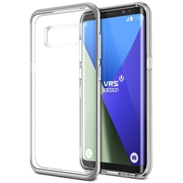 Galaxy S8 Hülle, VRS Design® Silikon Schutzhülle [Silber] Transparent Schlagfesten Stoßstangen Durchsichtige Case TPU Handyhülle Clear cover [Crystal Bumper] für Samsung Galaxy S8 2017 -