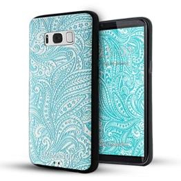 Galaxy S8 hülle,Lizimandu TPU 3D Handyhülle Muster Case Cover Für Samsung Galaxy S8(Spiral) -