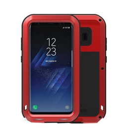Galaxy S8 Plus Hülle (Rot), [Wasserdichte / Stoßfest / Staubdicht Handyhülle] CNC Aluminum Gehäuse Back Cover für SAMSUNG Galaxy S8 Plus Schutzhülle Metall Bumper Shockproof Outdoor Case Rundumschutz Schale -wowaswill -