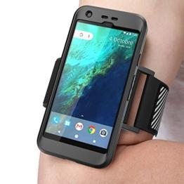 Google Pixel (5.0) (2016) Armband , SUPCASE Sport Hülle Ideal zum Joggen / Zubehör (schwarz) -