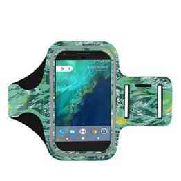 Google Pixel Armband, J&D Sport-Armband für Google Pixel, zusätzliche Tasche für Schlüssel, perfekte Kopfhörer-Verbindung für unterwegs -Tarnung -