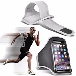Google Pixel - Einstellbare Sport-Armband Fall-Abdeckung für Laufen Jogging Radfahren Gym - White -