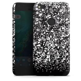 Google Pixel Hülle Premium Case Schutz Cover Glitzer Glitter Muster -