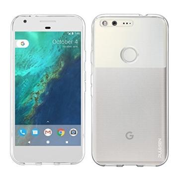 Google Pixel Hülle, PULESEN® Google Pixel Schutzhülle Case Cover [kristallklar] Ultra dünn / Nicht sperrig / Kratzfestes Premium-Transparent Weiche TPU-Schutzhülle für Google Pixel 2016 -