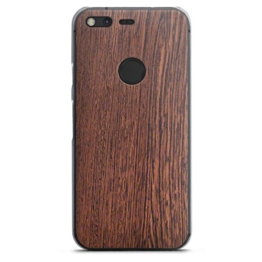 Google Pixel Hülle Schutz Hard Case Cover Nussbaum Holz Look Holzboden -