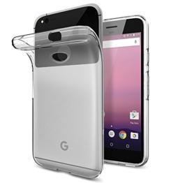 "Google Pixel Hülle, Spigen® [Liquid Crystal] Ultra Dünn [Crystal Clear] Bumper-Style Premium-TPU / Perfekte Passform / Durchsichtiges Soft-Case Schutzhülle für Google Pixel Case, Google Pixel Cover, , Google Pixel 2016, Google Pixel 5,0"" - Crystal Clear (F14CS20890) -"