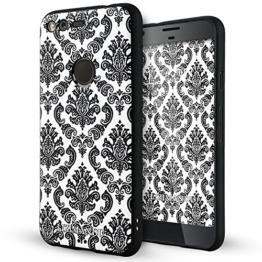 Google Pixel hülle,Lizimandu TPU 3D Handyhülle Muster Case Cover Für Google Pixel(Spitze Blume/Lace Flower) -