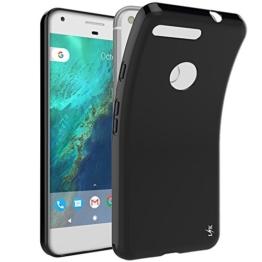 Google Pixel XL Hülle, LK Ultra Schlank Dünn TPU Gel Gummi Weiche Haut Silikon Anti-Kratzer Schutzhülle Abdeckung Case Cover für Google Pixel XL (Schwarz) -