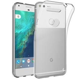 Google Pixel XL Hülle, LK Ultra Schlank Dünn TPU Gel Gummi Weiche Haut Silikon Anti-Kratzer Schutzhülle Abdeckung Case Cover für Google Pixel XL (Transparent) -