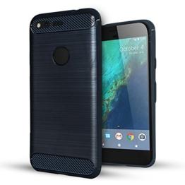 Google Pixel XL hülle,Lizimandu Case Für Google Pixel XL aus TPU Silikon - Handy Schutzhülle Cover(Blau/Blue) -