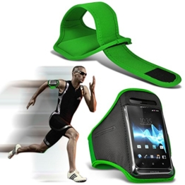 ( Green 143 x 71.4 ) Google Pixel 2case High Quality Fitted Sports Armbands Running Bike Cycling Gym Jogging Ridding Arm Band case cover by i-Tronixs -