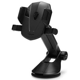 Handy Halterung, Spigen Kuel Transformer [360 Grad] [Ein Hand Bedienung] Prämie KFZ Halterung - Universell und Vielseitig Auto Handyhalterung für Windschutzscheiben und Armaturenbretter - iPhone 7/7 Plus/6S/6S Plus/SE,Galaxy S8/S8 Plus/S7/S7 Edge/S6/S6 Edge, Google Pixel/Pixel XL,HTC,Xioami,Nexus, GPS, Schwarz - AP12T -