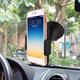Handy KFZ Halterung Halter, ASSCOM® Universal Autohalterung Windschutzscheibenhalterung für Smartphones, kompatibel für iPhone 7 7plus, 6s 6s plus, 6 6 Plus, 5 5S 5C 4 4S 3 G, Samsung Galaxy S2 S3 S4 S5 S6, Motorola Droid Razr Maxx, HTC One M8 M9 X, LG Revolution Flex G3 G2, GPS-Halter, oder jedes Gerät bis zu 3,5 ~ 5,8 inches -