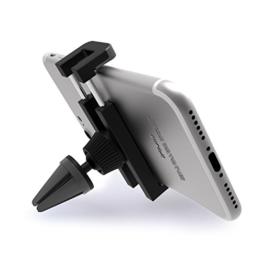 Handyhalterung Auto Lüftung, iVoler® Universal KFZ Handy Halterung Mini Autohalterung mit 360 Grad Drehung Car Mount für iPhone 7/7 Plus/6S/6s Plus/6/6 Plus/5S/5C/SE, Samsung Galaxy S7/S7 Edge, Huawei P9 Lite, LG G5, GPS, MP3 Player und andere Smartphone 51-85 mm breit - Grau /Schwarz -