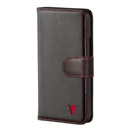 HTC One M9 Ledertashe Case Hülle Echtem Leder Brieftasche mit Bargeld / Visitenkartenslot, Schwarz von TORRO -