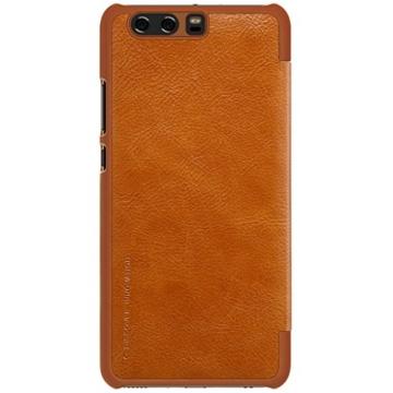 HuaWei P10 Flip Hülle Folio Schutzhülle - Retro Business Series Synthese PU Leder Tasche Handy Etui für HuaWei P10 - Braun -