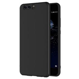 Huawei P10 Hülle, AICEK Schwarz Silikon Schutzhülle für Huawei P10 Case TPU Bumper Huawei P10 Handyhülle (5,1 Zoll) -