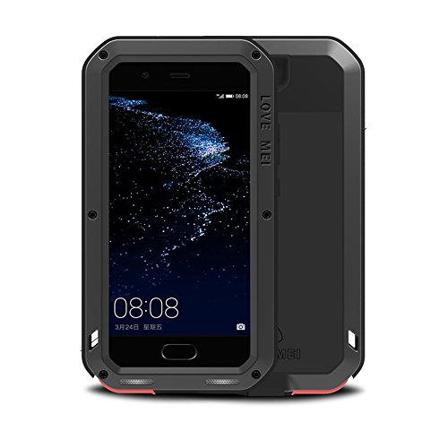 huawei p10 h lle case eastcoo wasserdicht sto fest alloy aluminum metal bumper gorilla glass. Black Bedroom Furniture Sets. Home Design Ideas