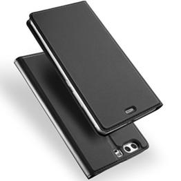 Huawei P10 Hülle, DUX DUCIS Skin Pro Series Ultra Slim Layered Dandy, Ständer, Magnetverschluss,TPU Bumper, Full Body Schutz für Huawei P10 (Gray) -