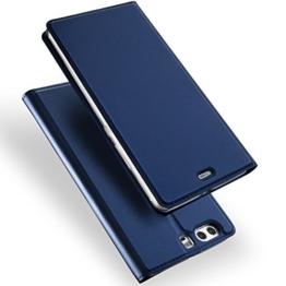 Huawei P10 Hülle, DUX DUCIS Skin Pro Series Ultra Slim Layered Dandy, Ständer, Magnetverschluss,TPU Bumper, Full Body Schutz für Huawei P10 (Deep blue) -