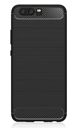 Huawei P10 Hülle, IVSO Ultra Slim Silikon Rückseite Schutzhülle, mit Advanced Shock Absorption Technology hülle für Huawei P10 Smartphone (Für Huawei P10, Schwarz) -