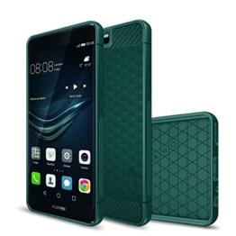 Huawei P10 hülle, KuGi Huawei P10 hülle / Fall - Schlank bereift Stil weichen TPU hülle für Huawei P10 5.1 Zoll smartphone.(Grün) -