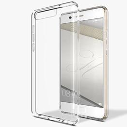 """Huawei P10 Hülle, Profer TPU [Crystal Clear] Transparent Ultradünn Schutzhülle Handyhülle Flexibel Silikon Case Cover Backcover Slimcase Rückschale für Huawei P10 (5,2"""") (TPU-Durchsichtig) -"""