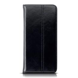 Huawei P10 Hülle, Terrapin ECHT LEDER Slim Fit Brieftasche im Bookstyle mit Standfunktion Kartenfächer für Huawei P10 Cover - Schwarz -