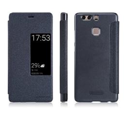 Huawei P10 Hülle, TopACE® Hochwertigem Flip Case / Hülle / Tasche/ Schutzhülle Für Huawei P10 (Grau-Schwarz) -