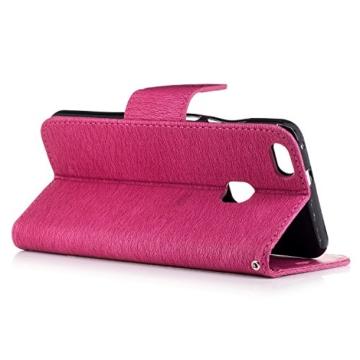Huawei P10 Hülle,Huawei P10 flip Case,TOYYM Bär Muster Dont Touch My Phone Design Ultra Dünn PU Lederhülle Flip Cover Brieftasche Leather hülle Tasche Schutzhülle Etui im Bookstyle mit Standfunktion Karte Halter für Huawei P10,Grau -