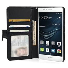 Huawei P10 Lite Hülle, ViViSun Wallet Ledertasche mit Standfunktion und Karte Halter Schutzhülle Tasche für Huawei P10 Lite -