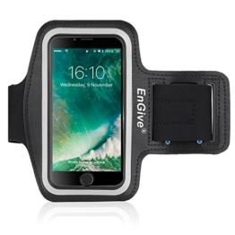 iPhone 7 Armband [Homebutton & Touch ID kompatibel] , EnGive Sport Hülle Joggen Laufen Sportarmband Schutzhülle Case und Schlüsselhalter Kopfhörer Anschluss für iPhone 7 -