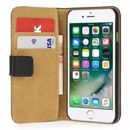 iPhone 7 Hülle, von Caseflex [Echt Leder] Leichtgewichtige & Schmale Brieftaschenhülle [Bargeld & Kartenschlitz] - Passgenau für das iPhone 7 (2016 Model) -