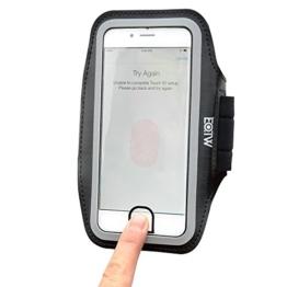 IPhone 7 Plus Armband, EOTW Sportarmband Handyhülle für iPhone 7 Plus mit Aussparungen für Home Taste ID-Touch für Laufen, Joggen, Gym etc. (5.5 Zoll, Schwarz) -